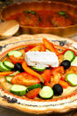 Greek cuisine rural salad appetizing of vegetables on a table the Royalty Free Stock Photography