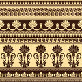 Greek design vector seamless background with pattern Stock Image