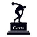 Greek famous statue silhouette discobolus ancient greece monument symbol stulpture Stock Images