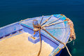 Greek fishing boat at cyclades islands greece Royalty Free Stock Photo