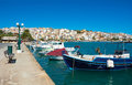Greek fishing boats in Sitia. Royalty Free Stock Photo