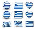 The Greek flag Stock Image