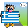 The Greek Flag Royalty Free Stock Images