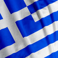 Greek Flag Closeup Stock Photos