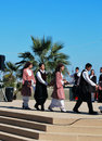 Greek folklore dance Royalty Free Stock Photography