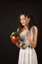 Greek girl with jug Royalty Free Stock Photo