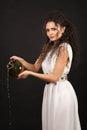 Greek girl with jug Royalty Free Stock Photo