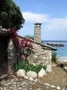 Greek home Royalty Free Stock Photo