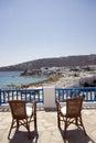 Greek hotel island suite view Fotografering för Bildbyråer