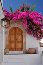 Greek house in Lindos town, Rhodes Royalty Free Stock Image