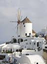 Greek island mykonos is popular tourist destination for cruises Royalty Free Stock Photo