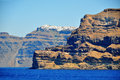 Greek island santorini greece view of Royalty Free Stock Photos