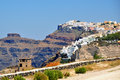Greek island santorini greece view of Stock Photo