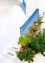 Greek island street Royalty Free Stock Photo