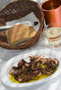 Greek island taverna specialty grilled octopus Royalty Free Stock Photography