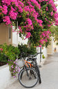 Greek island village alley Royalty Free Stock Photography