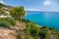 Greek island zakynthos coastline of greece Royalty Free Stock Photo