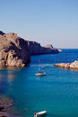 Greek islands rhodes lindos bay greece Stock Image