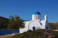 Greek islands, small church amorgos Royalty Free Stock Photos