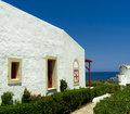 Greek mediterranean bungalow architecture Stock Photography