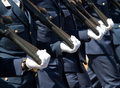 Greek military parade Royalty Free Stock Photo