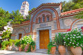 Greek monastery lassithi mountains crete Royalty Free Stock Image