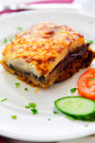 Greek moussaka Royalty Free Stock Photo