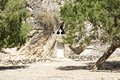 Greek orthodox cave church monolithic or rock hewn in the tripiti gorge near lentas on crete Royalty Free Stock Images