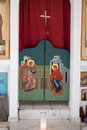 Greek-orthodox chapel inside detail Stock Photo