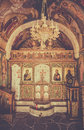Greek orthodox chapel interior Royalty Free Stock Photo