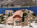 Greek Orthodox Church on Kastellorizo Stock Image
