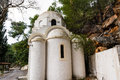 Greek orthodox church in poros island a small greece Stock Image