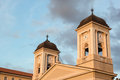 The greek orthodox church of trieste italy in a summer afternoon Royalty Free Stock Image