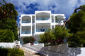 Greek paradise outstanding architecture hotel in island poros Stock Photo