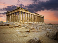 Greek parthenon on the acropolis in athens greece Stock Images