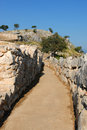 Greek pathway Royalty Free Stock Photo