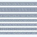 Greek pattern border - grecian ornament Royalty Free Stock Photo