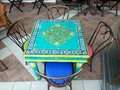 Greek restaurant or cafe interior design Royalty Free Stock Photo