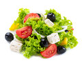 Greek salad with feta cheese tomatoes and olives Stock Image