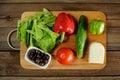 Greek salad ingredients Royalty Free Stock Photo