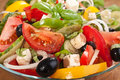 Greek salad serving Royalty Free Stock Image