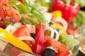 Greek salad serving Royalty Free Stock Photo