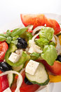 Greek salad serving Stock Images