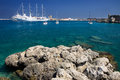 Greek sea in the island of rodos Stock Photography