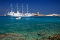 Greek sea in the island of rodos Royalty Free Stock Photos