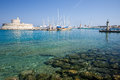 Greek sea in the island of rodos Royalty Free Stock Image