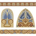Greek set a of patterns and ornaments in the style vector illustration Royalty Free Stock Photography