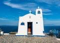 Greek small chapel Royalty Free Stock Photo