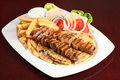 Greek souvlaki Royalty Free Stock Photo