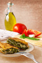 Greek spinach pie - spanakopita Royalty Free Stock Image